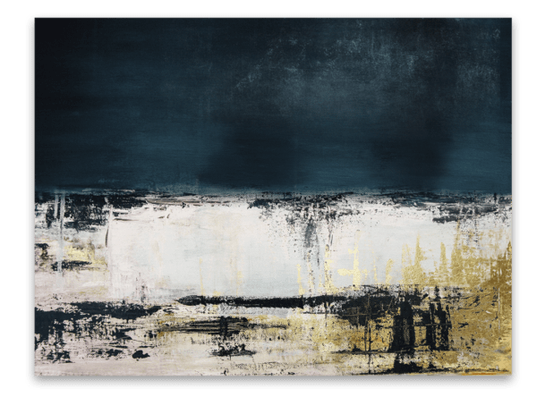 Leinwandbild Blue Abstract