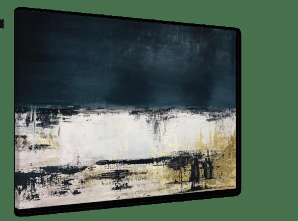 Leinwandbild Blue Abstract Ansicht schräg