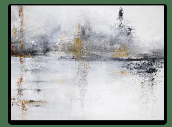 Leinwandbild White Abstract