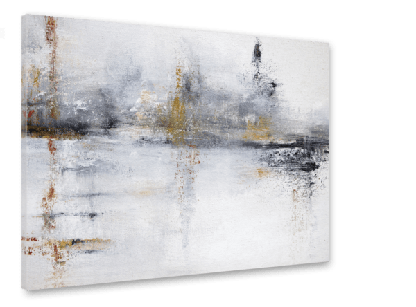 Leinwandbild White Abstract Ansicht schräg