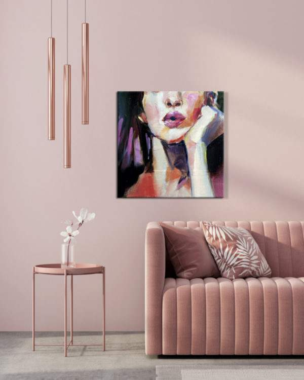 Leinwandbild Violet Mouth im Wohnzimmer