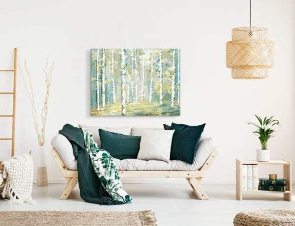 Leinwandbild Abstract Forest im Wohnzimmer
