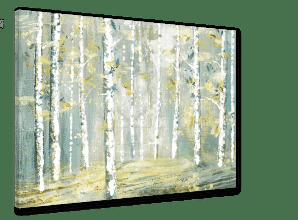 Leinwandbild Abstract Forest Ansicht schräg