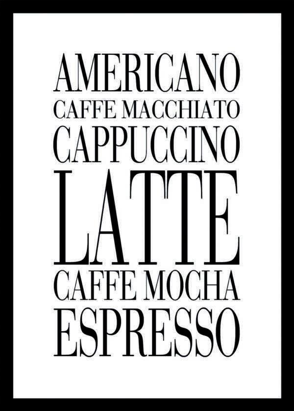 Rahmenbild Americano