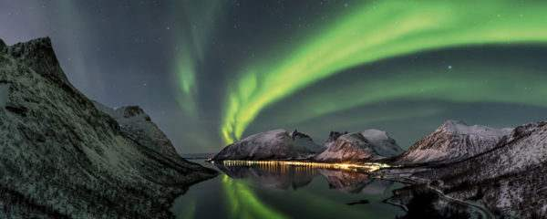 Glasbild Polarlichter