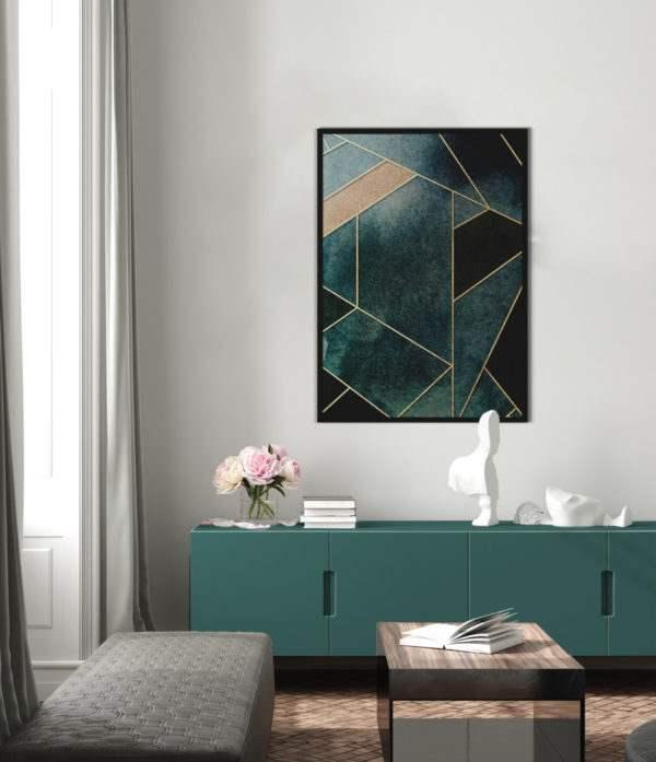 Artbox Lines im Wohnzimmer