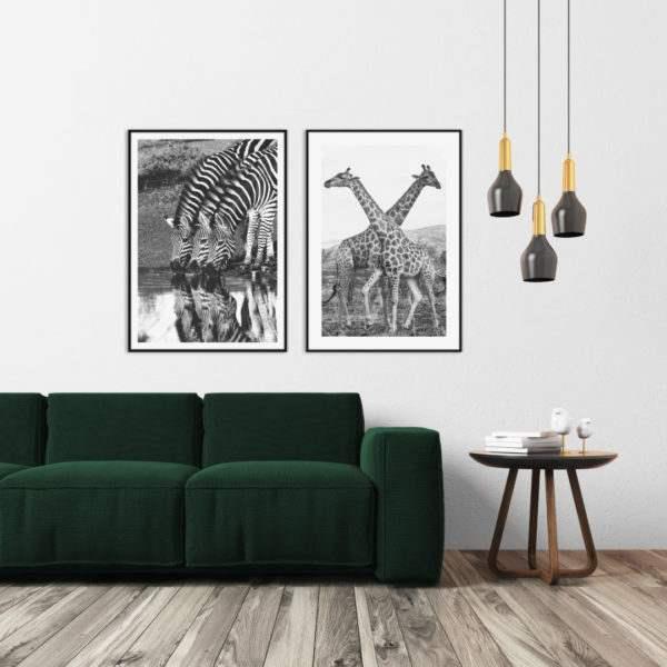 Artbox Giraffe im Wohnzimmer