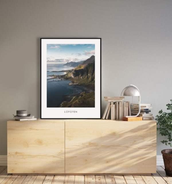 Artbox Lofoten im Wohnzimmer