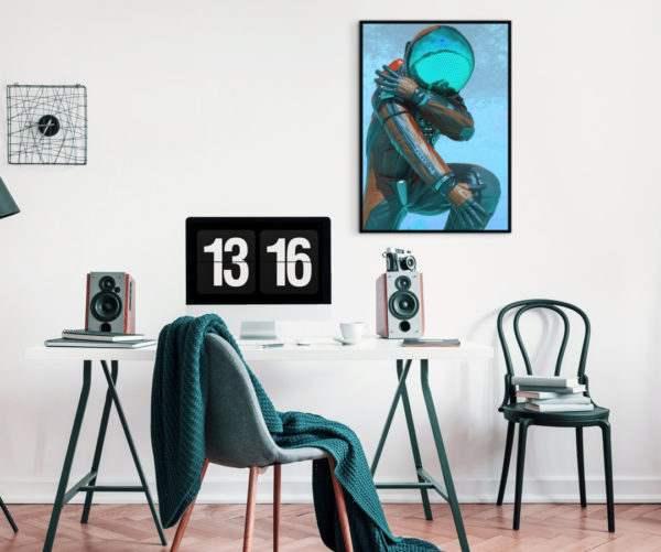 Artbox Astronaut im Wohnzimmer