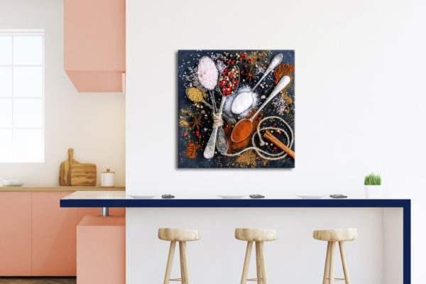 Glasbild Cinnamon in der Küche