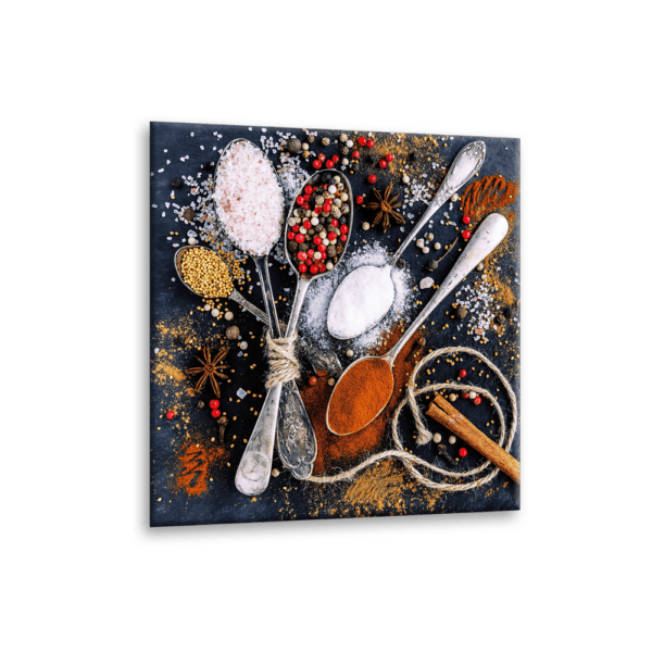 Glasbild Cinnamon Ansicht schräg