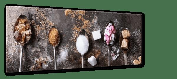 Glasbild Sugar Ansicht schräg