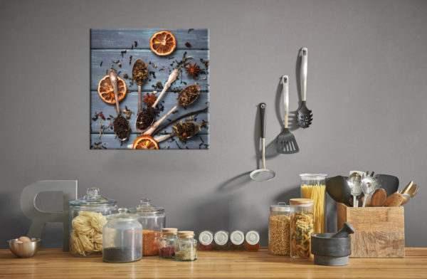 Glasbild Sugar in der Küche