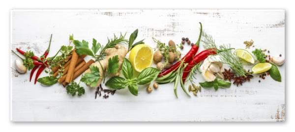 Glasbild Shabby Herbs