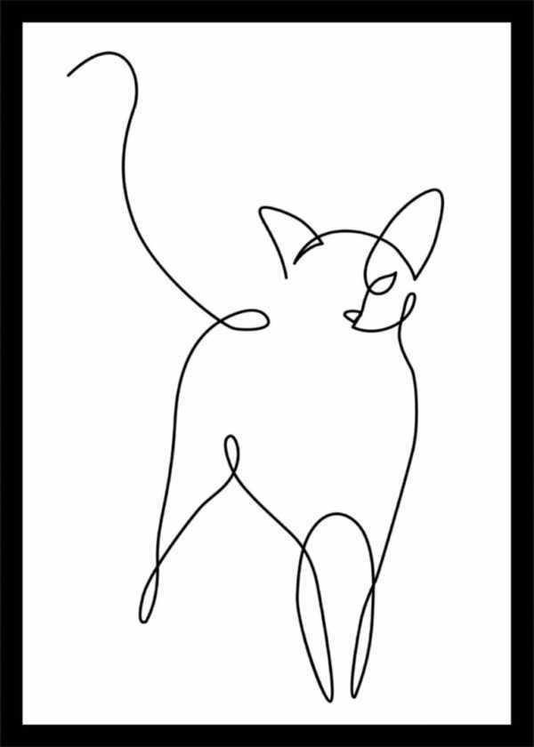Rahmenbild Katze