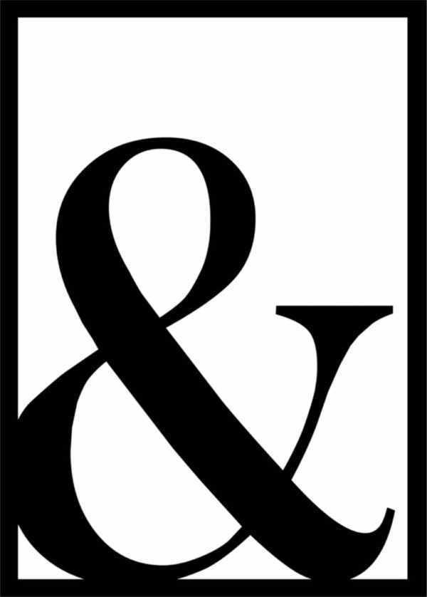 Rahmenbild & – Zeichen