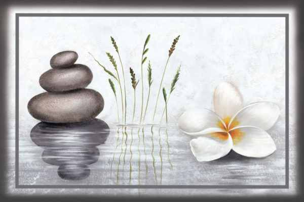 Leinwandbild Weiße Orchidee