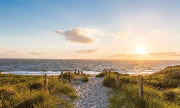 Leinwandbild Strand – 90x150cm