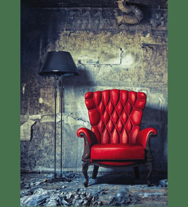 Leinwandbild Roter Sessel