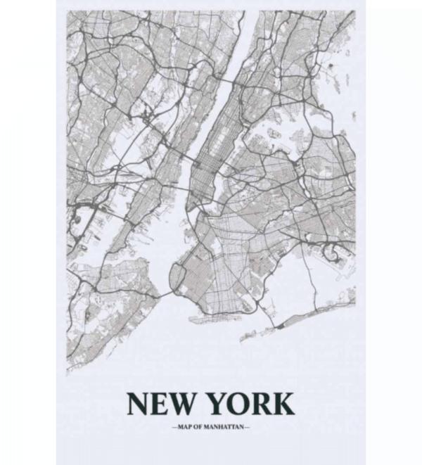 Leinwandbild New York Map