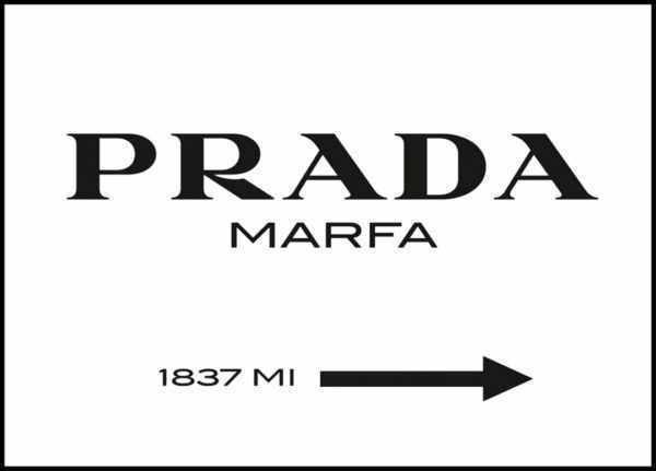Gerahmtes Bild Prada – 30x40cm