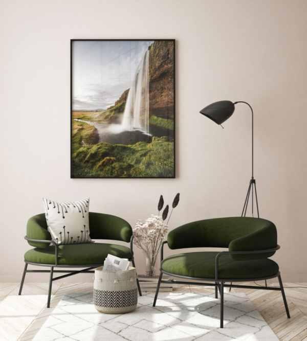 Rahmenbild Waterfall im Wohnzimmer