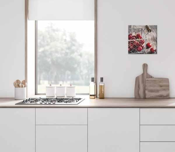 Glasbild Cherry in der Küche